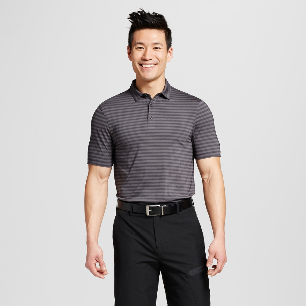 Mens Stripe Golf Polo Shirt - C9 Champion Silverstone L