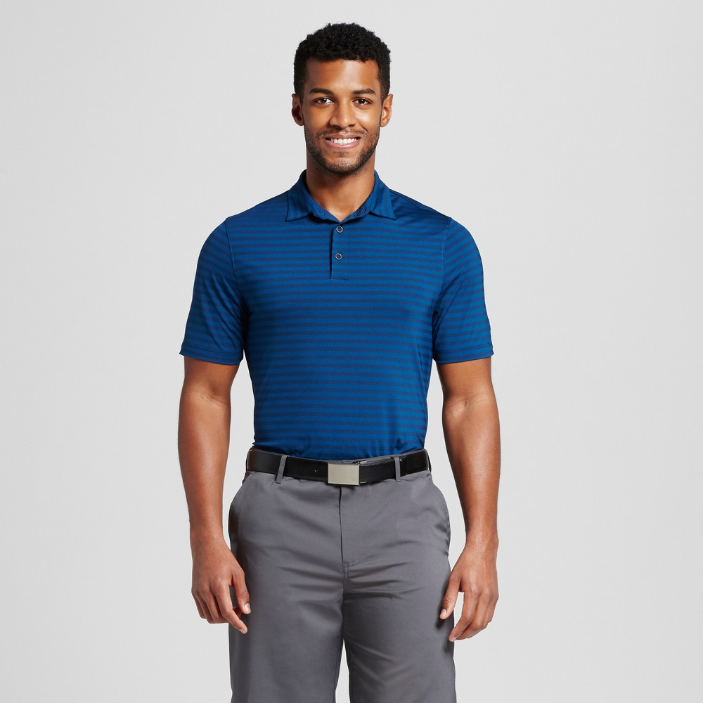 Mens Stripe Golf Polo Shirt - C9 Champion - Dark Night Blue S