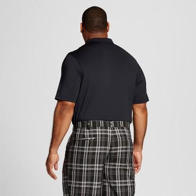 Men's Big & Tall Golf Polo Ebony L- Tall - C9 Champion, Size: L Tall