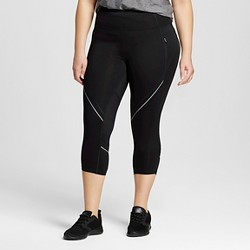 Women's Plus-Size Run Capri Leggings - Black - C9 Champion®