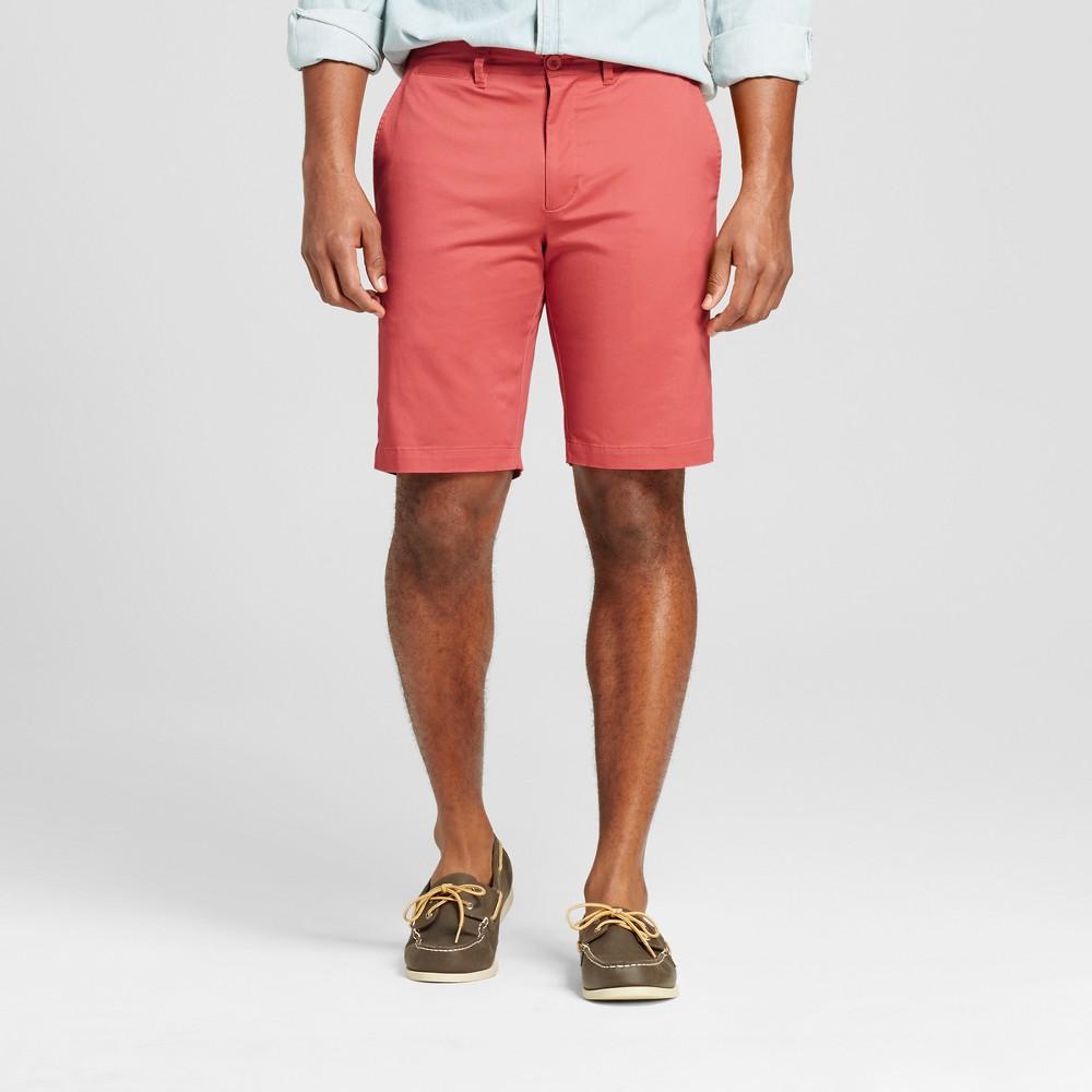 Mens Club Shorts 10.5 - Merona Red 40