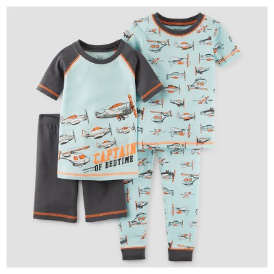 Toddler Boys' 4pc Snug Fit Cotton Pajama Set - Just One You™ Made by Carter's® Turquoise/Gray 2T