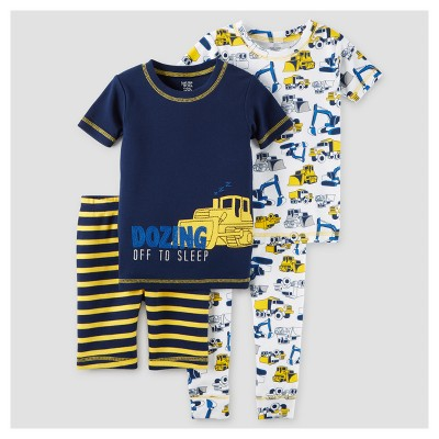 Toddler Boys' 4pc Snug Fit Cotton Pajama Set - Just One You™ Made by Carter's® Dark Blue 12M