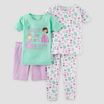 Toddler Girls' Snug Fit Cotton 4pc Pajama Set - Just One You™ Made by Carter's® Mint 18M