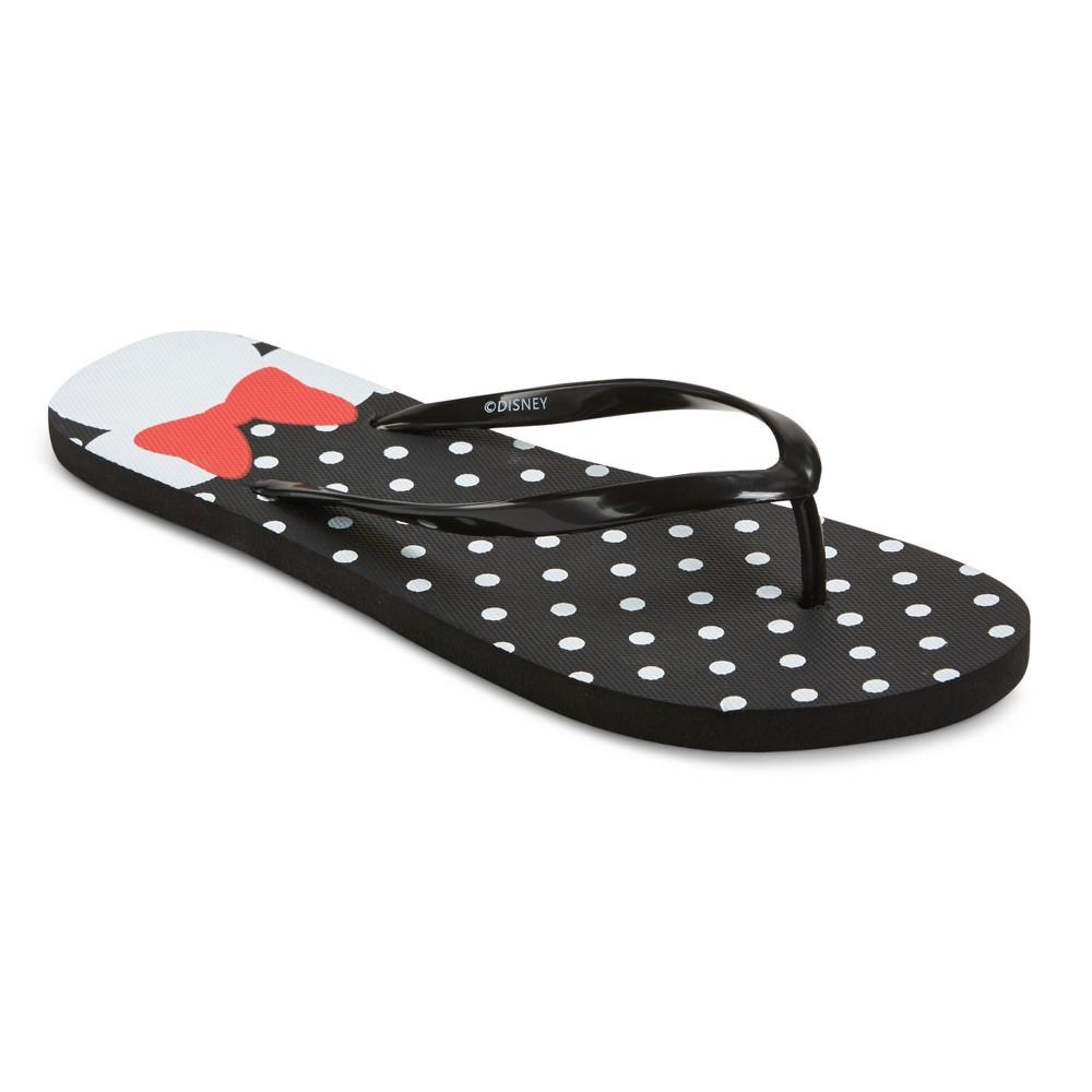 Womens Disney Minnie Mouse Flip Flop Sandals - Black 11