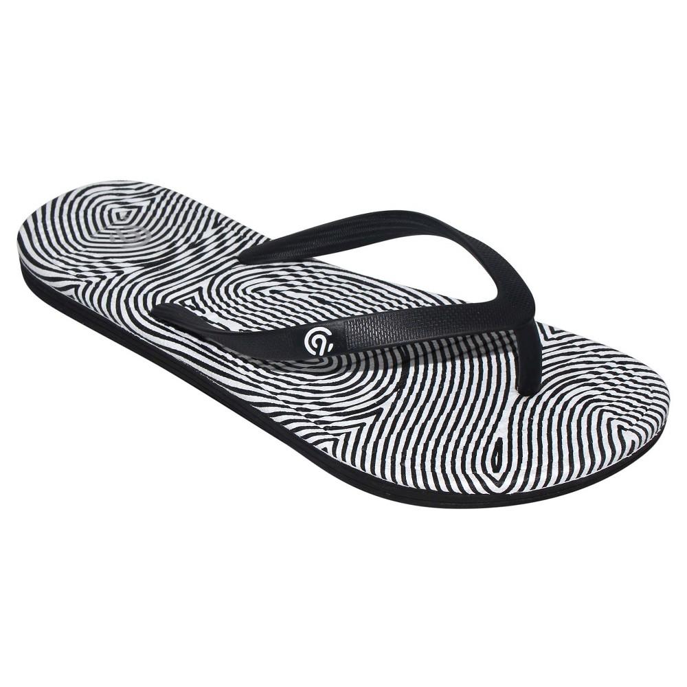 Womens Calypso Flip Flop Sandals - C9 Champion Black/White 6