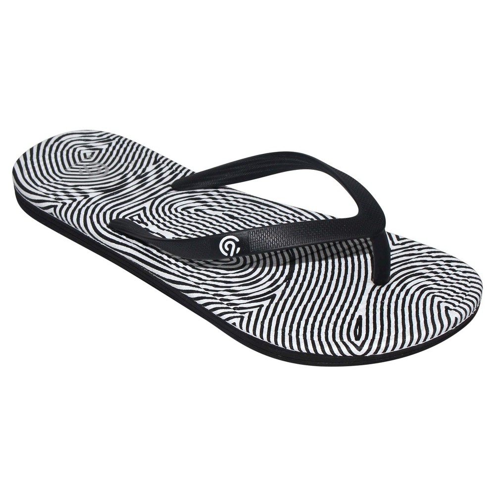 Womens Calypso Flip Flop Sandals - C9 Champion Black/White 9
