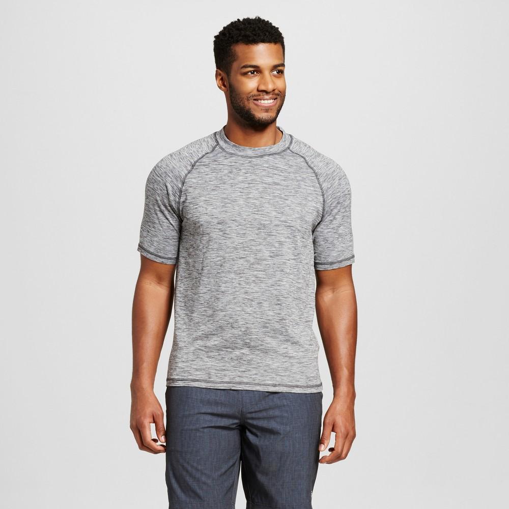 R-Way by ZeroXposur Men's Melange Rash Guard Swim Shirt - Charcoal (Grey) M