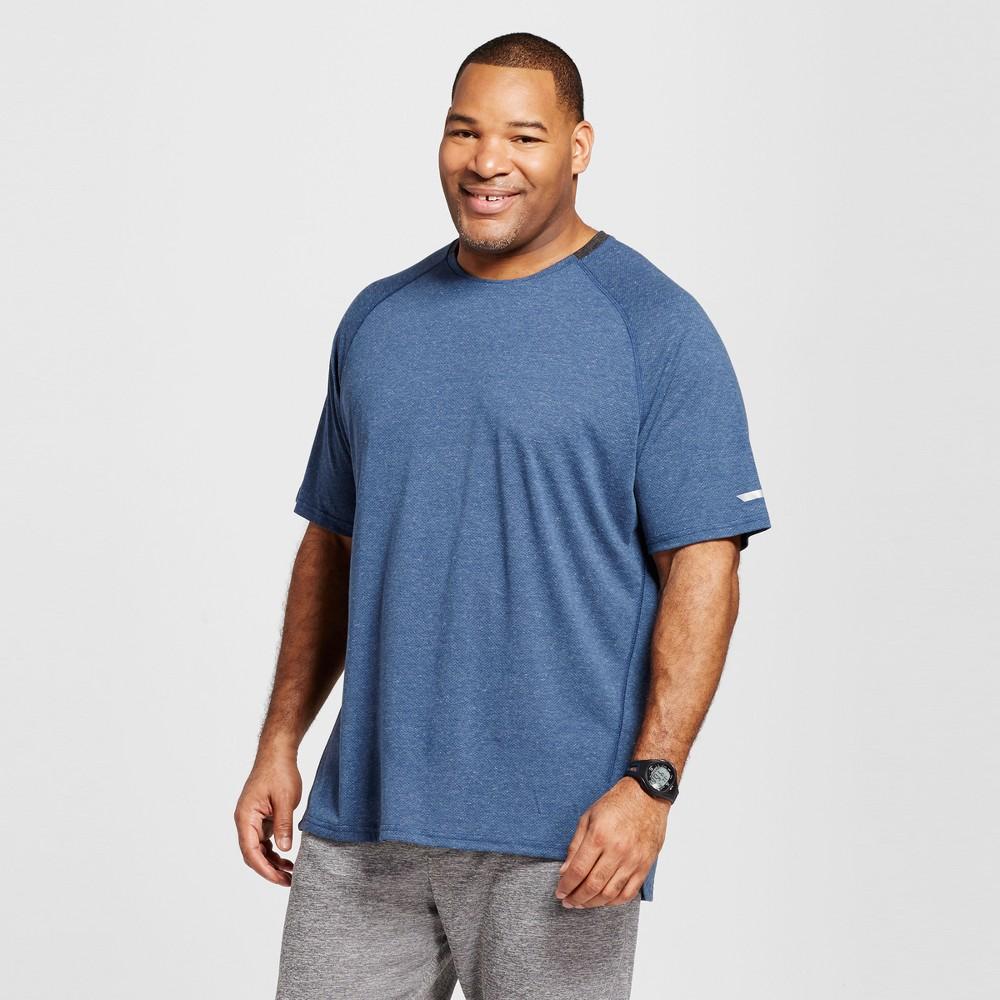 Mens Tall Premium Run T-Shirt - C9 Champion Cruising Blue MT, Cruising Blue Heather