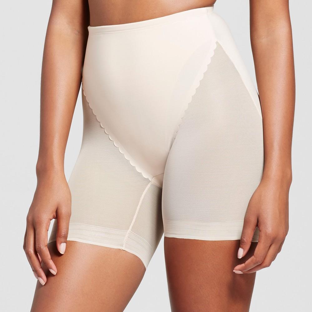 SlimShaper by Miracle Brands Womens Sheer Waist Line Shortie - Nude XL
