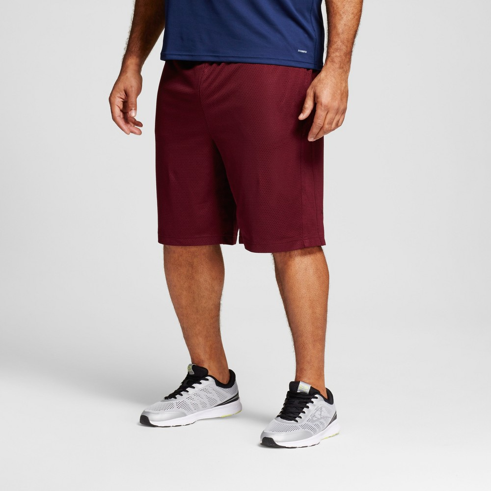 Mens Big & Tall Mesh Shorts - C9 Champion - Rich Maroon 5XB