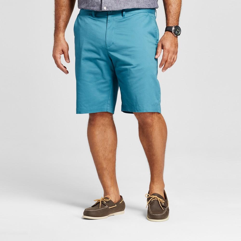 Mens Big & Tall Club Shorts - Merona Turquoise 52