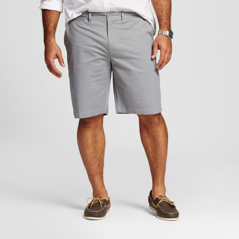 Mens Big & Tall Club Shorts - Merona Gray 44