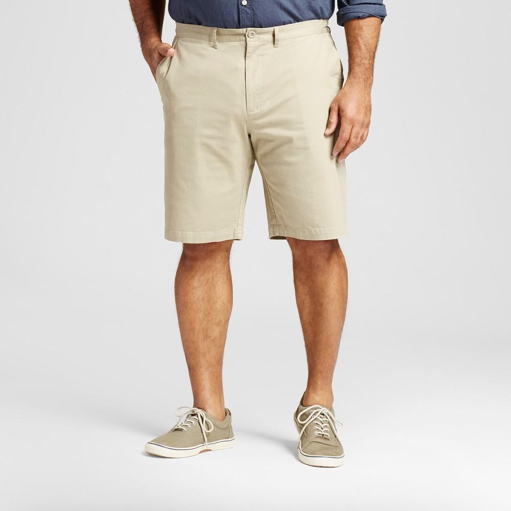 Mens Big & Tall Club Shorts - Merona Khaki (Green) 46