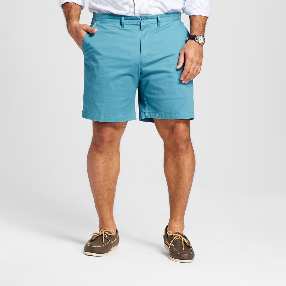 Mens Big & Tall Club Shorts 8 - Merona Turquoise 60