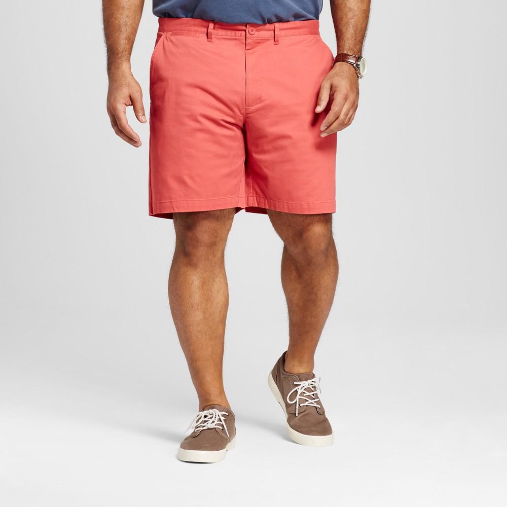 Mens Big & Tall Club Shorts 8 - Merona Red 48