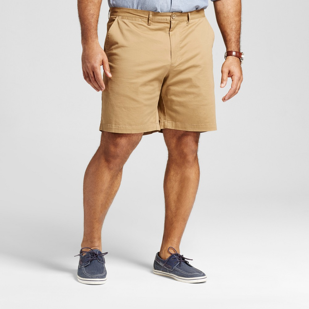 Mens Big & Tall Club Shorts 8 - Merona Brown 58