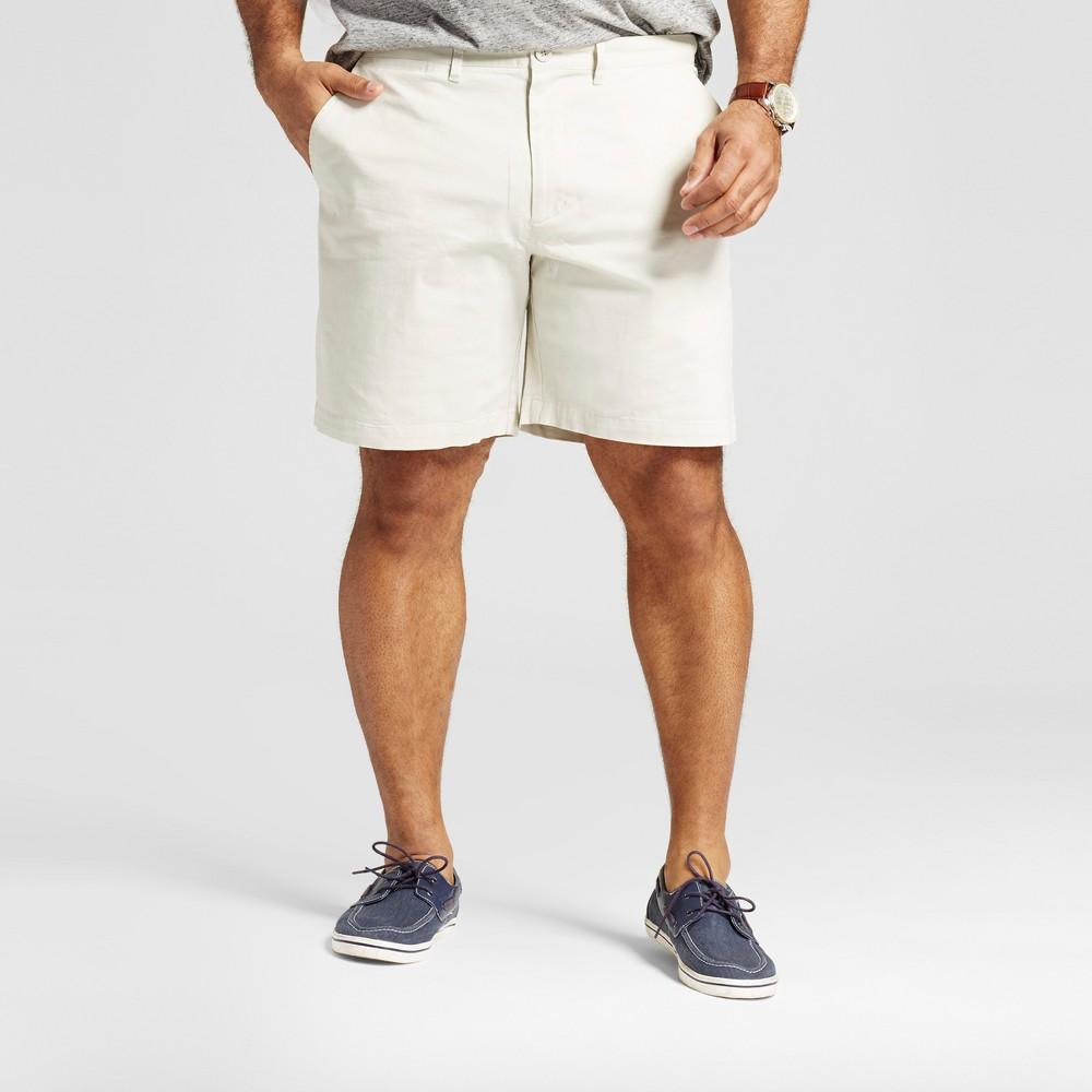 Mens Big & Tall Club Shorts 8 - Merona Tan 52