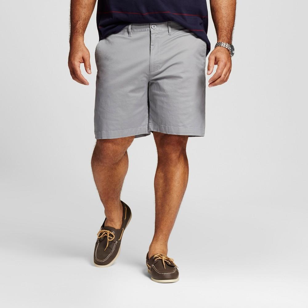 Mens Big & Tall Club Shorts 8 - Merona Gray 54