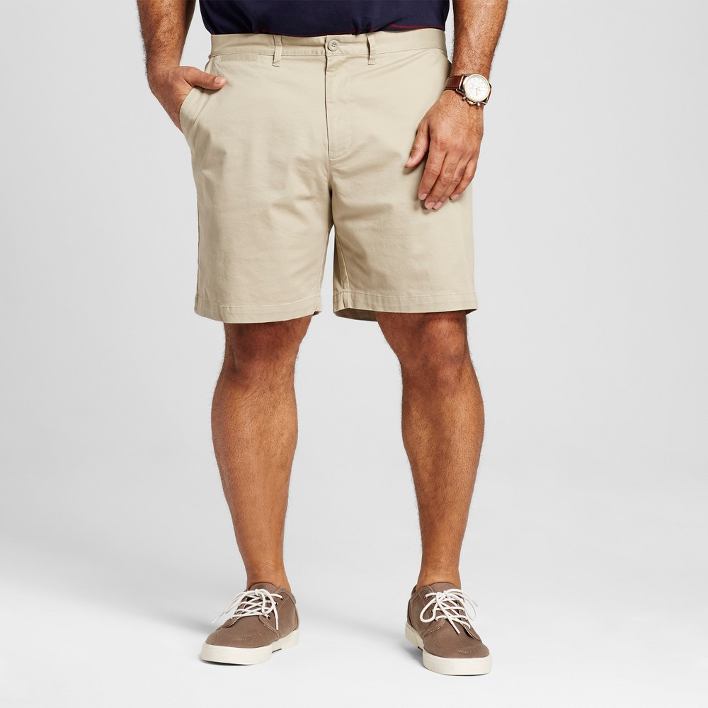 Mens Big & Tall Club Shorts 8 - Merona Khaki (Green) 60