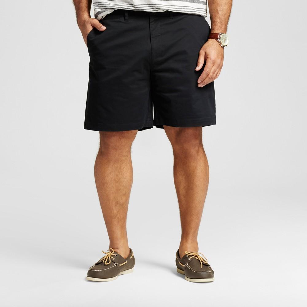 Mens Big & Tall Club Shorts 8 - Merona Black 60
