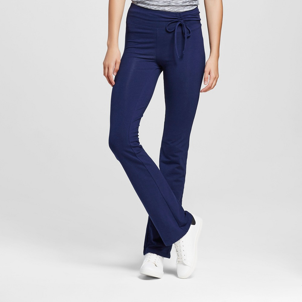 Women's Tie Waist Bootcut Pants Navy (Blue) XS - Mossimo Supply Co.