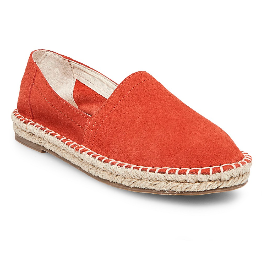 Womens Soho Cobbler Lemon Suede Espadrille Flat Shoes - Coral (Pink) 7