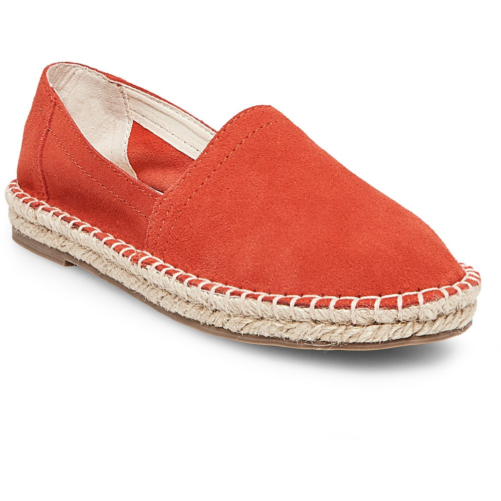 Womens Soho Cobbler Lemon Wide Width Suede Espadrille Flat Shoes - Coral (Pink) 9W, Size: 9 Wide