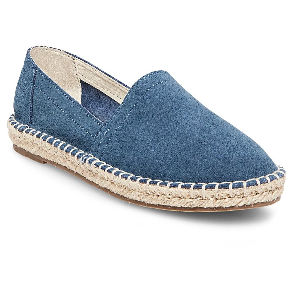 Womens Soho Cobbler Lemon Wide Width Suede Espadrille Flat Shoes - Blue 8.5W, Size: 8.5 Wide
