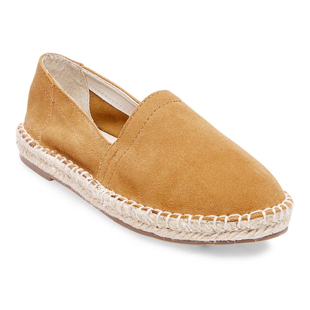 Womens Soho Cobbler Lemon Wide Width Suede Espadrille Flat Shoes - Chestnut (Brown) 7W, Size: 7 Wide