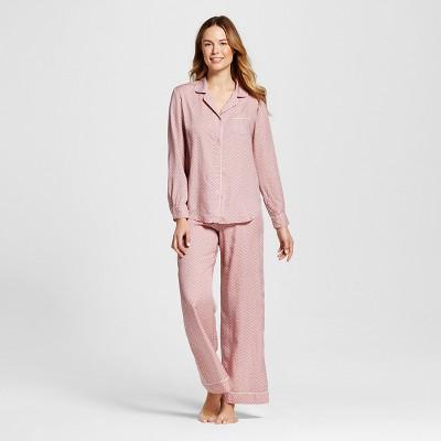 Women's TENCEL 2pc Pajama Set - Gilligan & O'Malley™ Blackberry Cream L