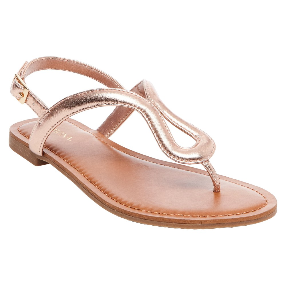 Womens Davinia Thong Sandals - Merona Gold 8.5