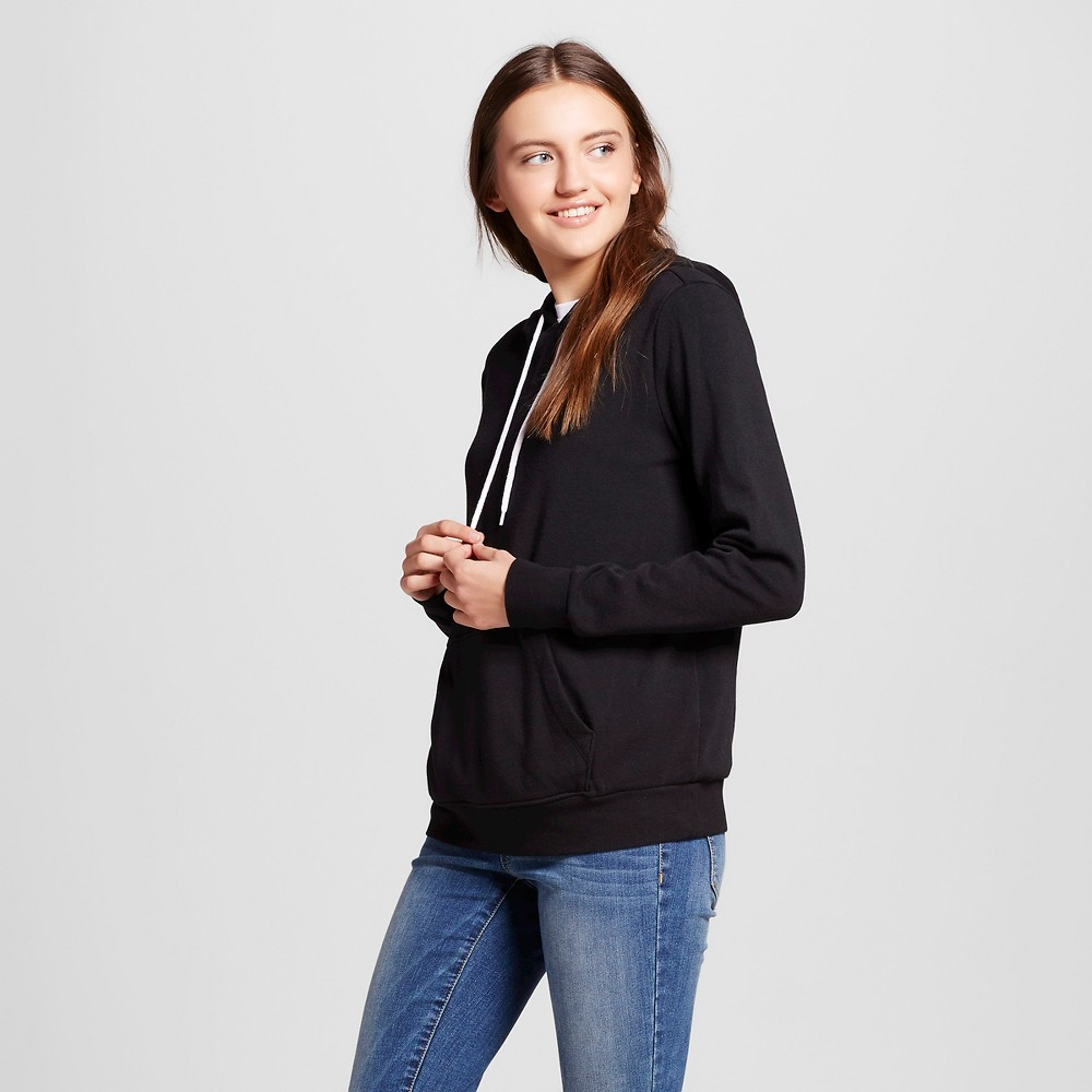 Womens Pullover Hooded Sweatshirt - Mossimo Supply Co. Black L