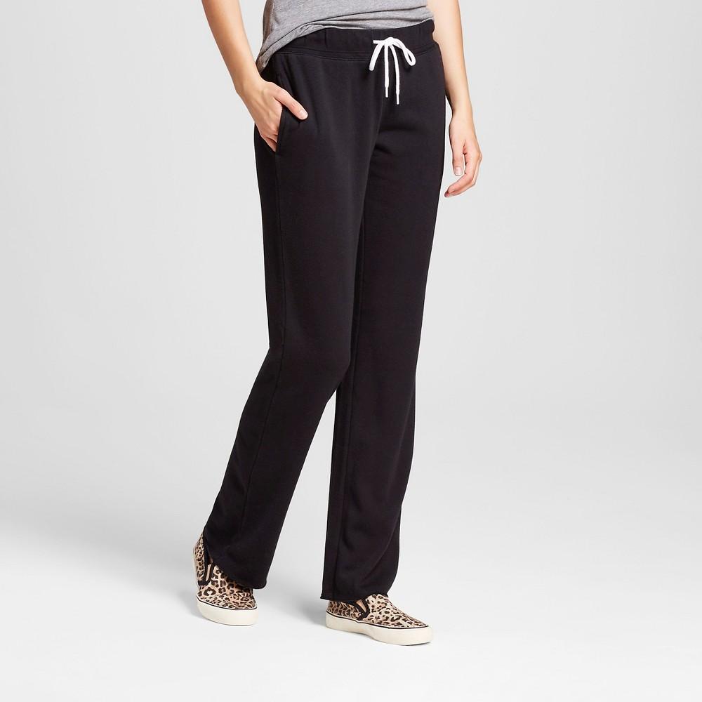 Womens Bootcut Fleece Sweatpant - Mossimo Supply Co. Black XS