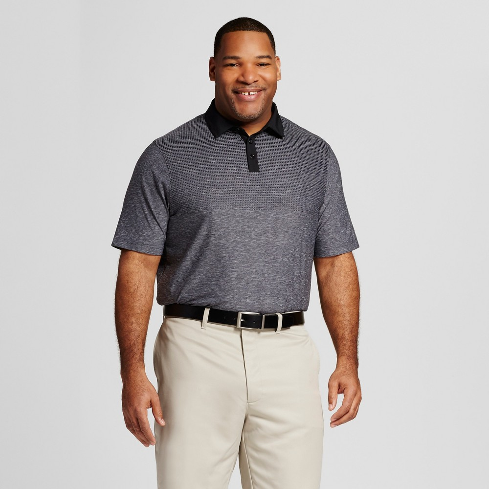 Men's Tall Printed Golf Polo - C9 Champion Railroad Gray LT