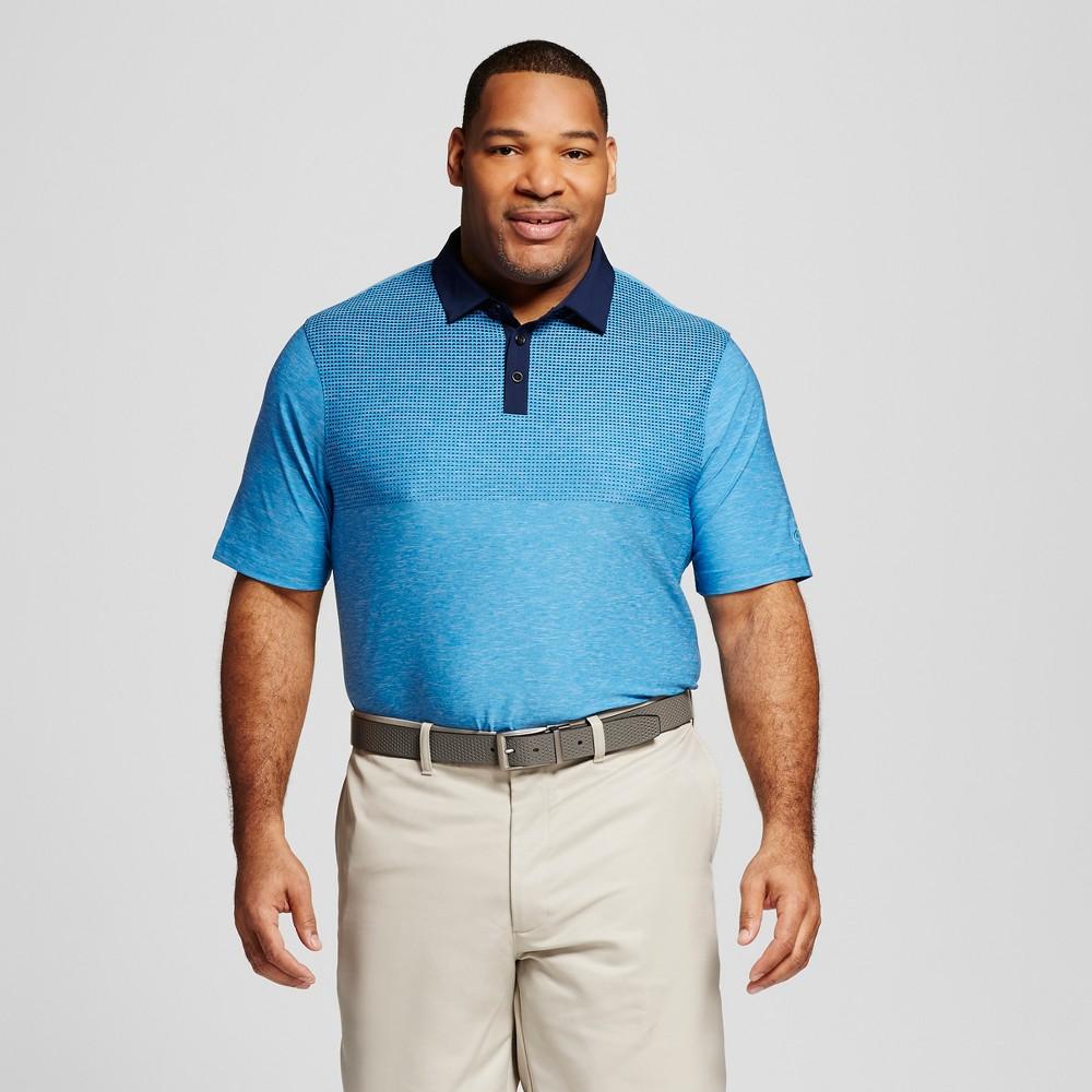Mens Big & Tall Printed Golf Polo - C9 Champion Sky Blue 5XBT