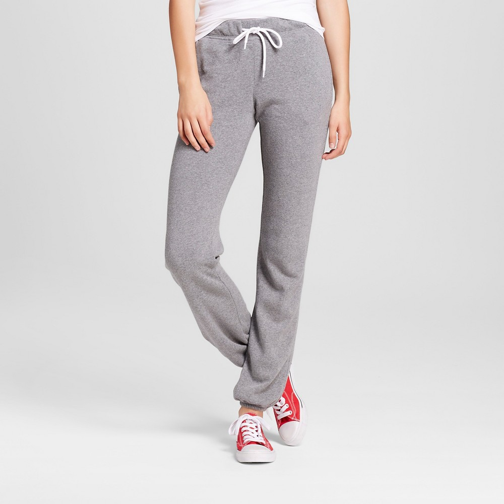 Women's Banded Fleece Sweatpant Heather Gray M - Mossimo Supply Co.