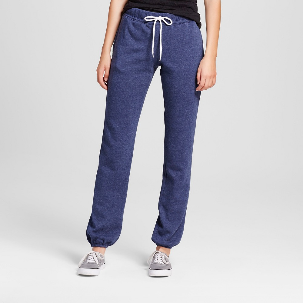 Women's Banded Fleece Sweatpants - Mossimo Supply Co. Navy (Blue) Xxl