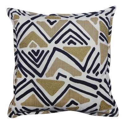 Geometric Throw Pillow (18 )- Black/Tan - Threshold™