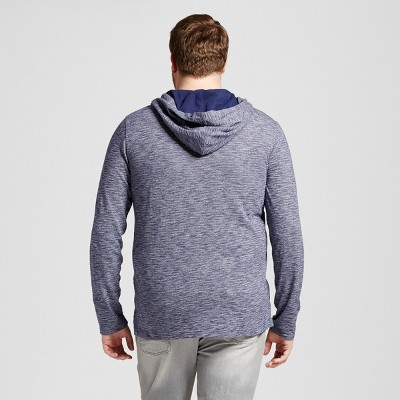 Men's Big & Tall Plated Jersey Hooded Henley - Mossimo Supply Co. Blue 4XB