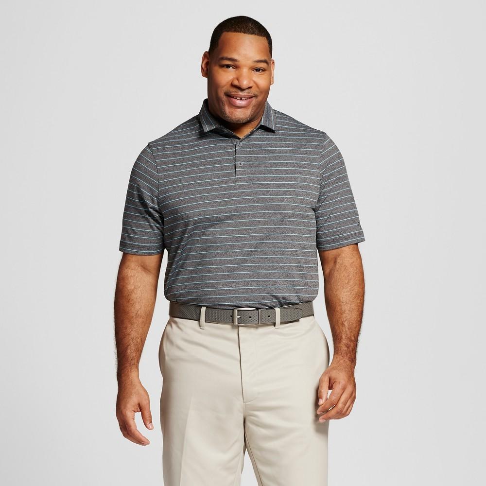 Mens Big & Tall Stripe Golf Polo - C9 Champion Charcoal (Grey) 4XBT