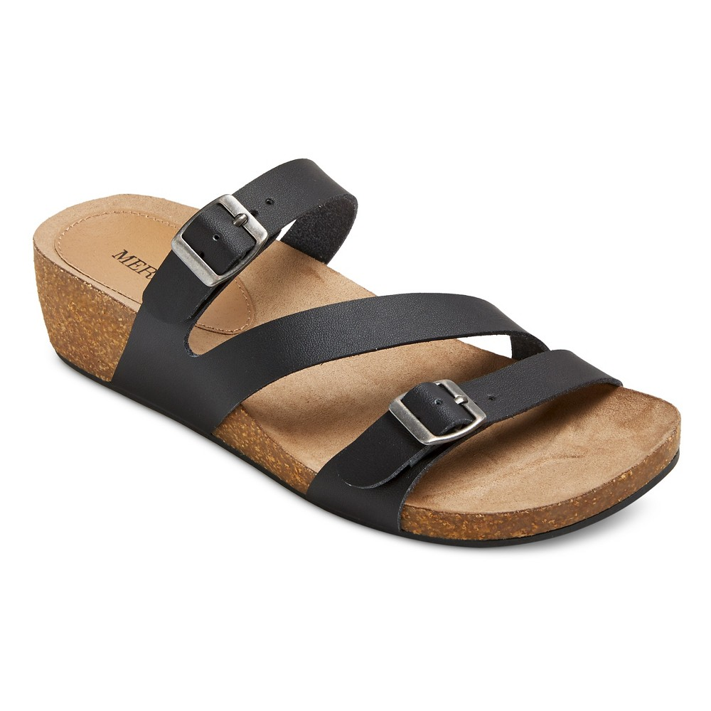 Womens Madeline Slide Sandals - Merona Black 8