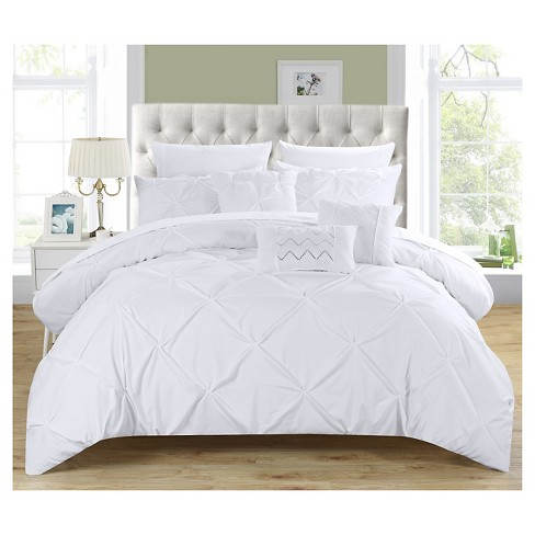 Valentina Pinch Pleated & Ruffled 10 Piece Comforter Set - Chic Home Design® - image 1 of 8