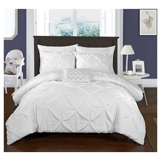 Whitley Pinch Pleated Ruffled 8 Piece Duvet Set Chic Home Design