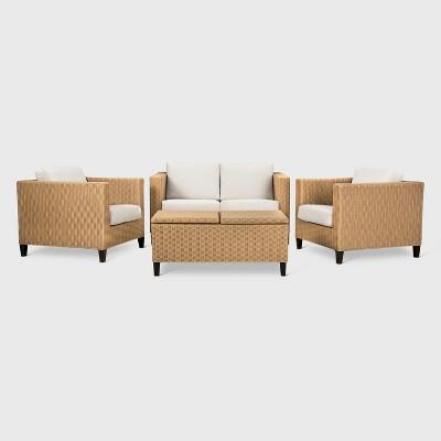 Fullerton 4 Piece Wicker Patio Furniture Set   Project 62™