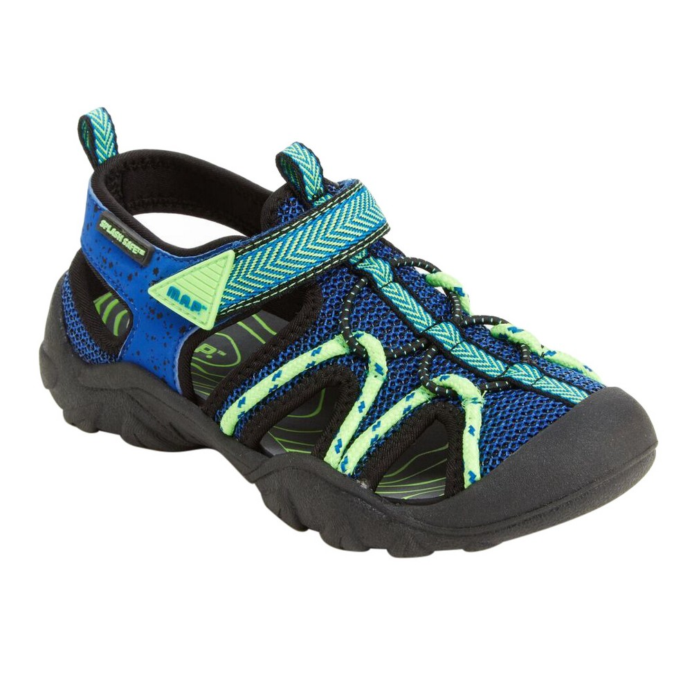 M.A.P. Boys Emmons Camping Fisherman Sandals - Black/Blue 5