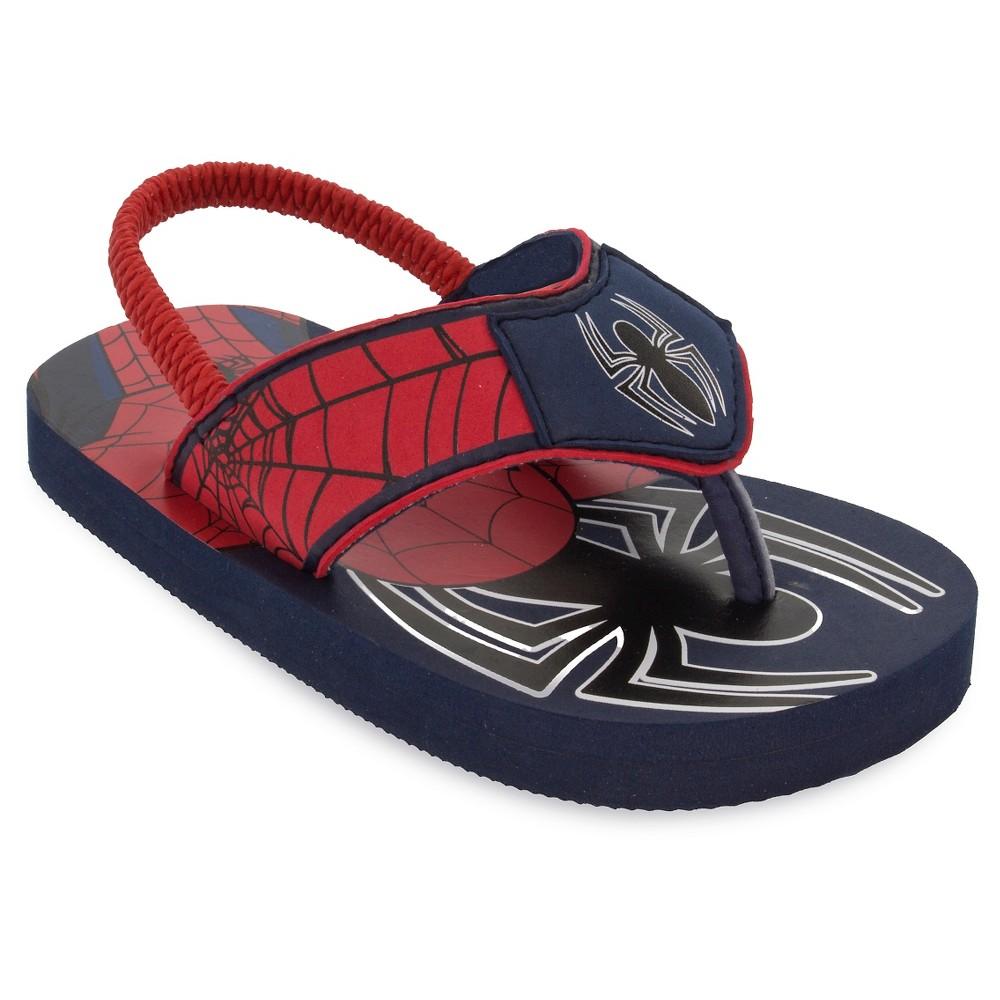 Toddler Boys' Spider-Man Flip Flop Sandals - S (5/6), Size: S (5-6), Red
