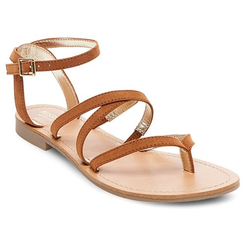 Women's Mai Thong Sandals Mossimo Supply Co. - Cognac (Red) 8.5