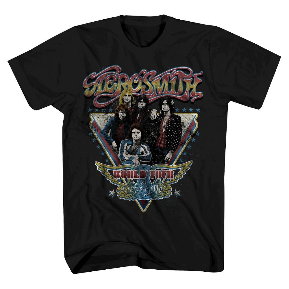 Mens Aerosmith T-Shirt - Black M