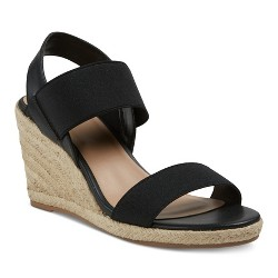 Women's Janet Elastic Espadrille Wedge Sandals - Merona™